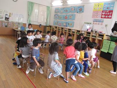 ひがし保育園 椅子取りゲーム 4歳児