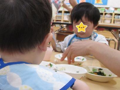 ひがし保育園 1歳児 昼食